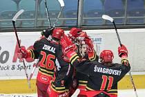 I. hokejová liga - 4. čtvrtfinále play off: Královští lvi Hradec Králové - HC Olomouc.
