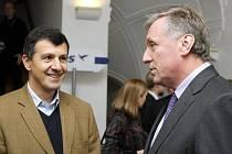 Mirek Topolánek na veřejné besedě Vize 2020 ve středu 13. ledna v Novém Adalbertinu.