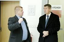 Ministr financí Andrej Babiš v Hradci Králové.