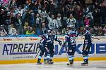 4. zápas čtvrtfinále extraligy ledního hokeje Bílí Tygři Liberec - Mountfield Hradec Králové.