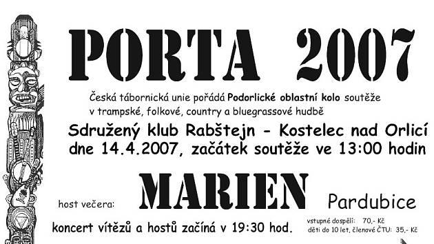 Letošní plakát Porty