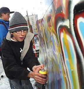 Grafity na Ulrichově náměstí