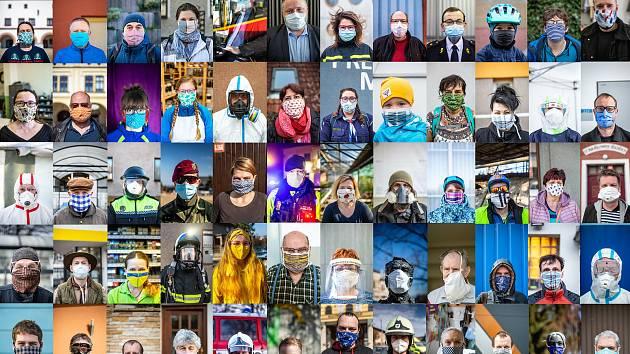 Průlom! Od pondělního dne není nutné venku nosit roušku. Jak se v rouškách žilo lidem v našem kraji, na portrétech zachytil fotograf Deníku.