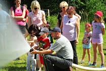 Dětský den v kynologickém centru Borova tlapka v hradeckých Malšovicích.