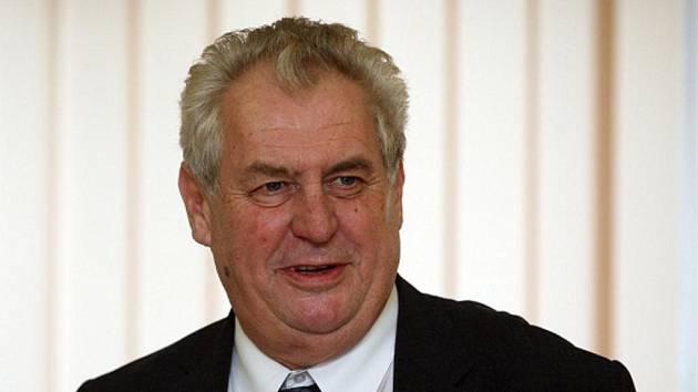 Miloš Zeman na návštěvě v Hradci Králové.