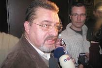 Evžen Snítilý po zasedání ČSSD v Náchodě.