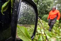 Odstraňování škod po bouři na Rychnovsku.