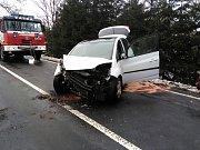 Dopravní nehoda v Horní Olešnici.