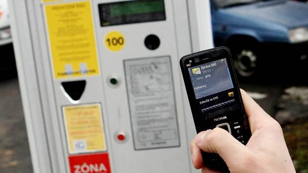 Placení parkovného pomocí SMS zpráv.