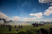 Rekonstrukce bitvy na chlumu v roce 1866