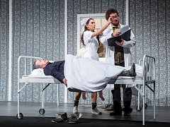 Inscenace Sen noci svatojánské v Klicperově divadle v Hradci Králové.