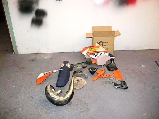 Motocykl značky KTM 300EXC.
