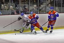 Play off krajské hokejové ligy: Náchod - Hronov.