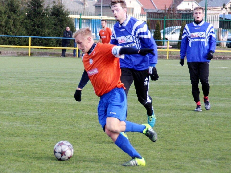 Jan Hable v jednom z přípravných fotbalových duelů.
