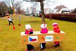 Netradiční zimní olympijské hry v MŠ Štefcova v Hradci Králové.