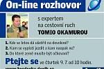 On-line rozhovor s Tomiem Okamurou.