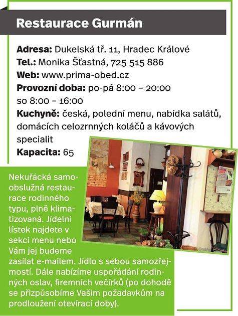 Restaurace Gurmán, Hradec Králové