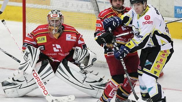 Hokej, I. liga: Hradec - Kadaň 4:1. (Sobota 10. října 2010)
