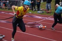 Mistrovství republiky v požárním sportu v Trutnově.