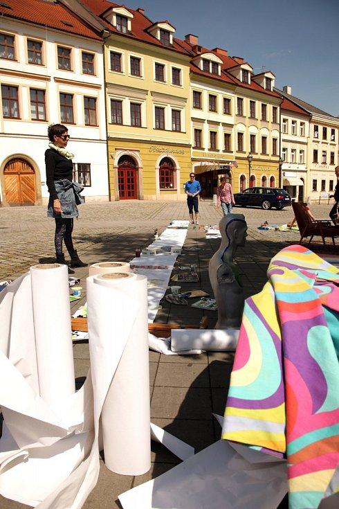 Sousedské slavností neboli Zaber Hradec! na Malém náměstí v Hradci Králové.