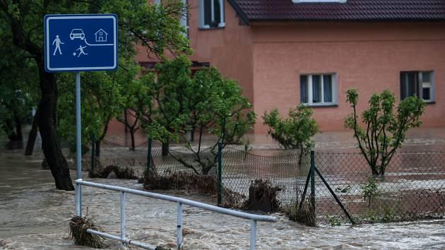 Blesková povodeň na Královéhradecku.