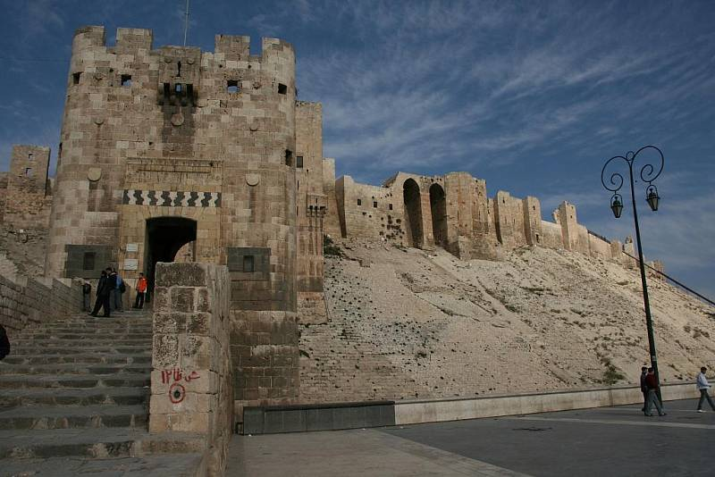Z cest Daniela Potměšila v Turecku: Citadela v Allepu.