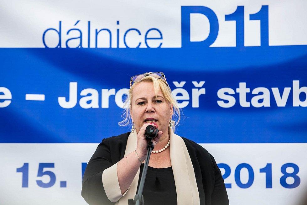Zahájení stavby dálnice D11 v Jaroměři.