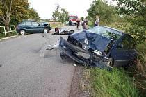 Dopravní nehoda mezi Novým Bydžovem a Starým Bydžovem.