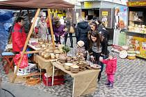Vánoční trhy na královéhradeckém Masarykově náměstí.