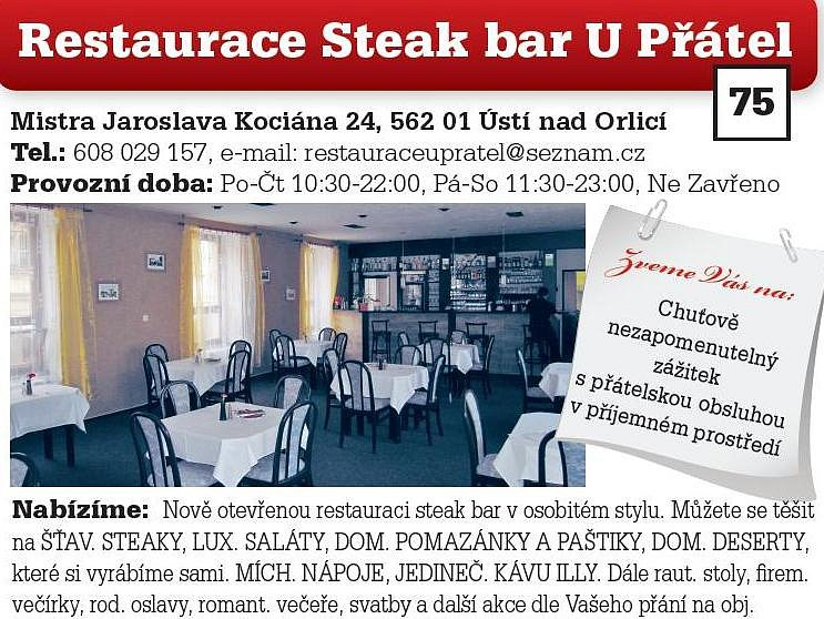 Restaurace Steak bar U Přátel