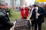 Slavnostní zahájení výstavby nového objektu Domova důchodců v Černožicích.