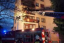 Požár bytu v jednom z obytných domů v ulici Milady Horákové v Hradci Králové.