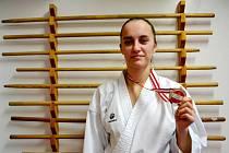 Barbora Bukáčková se zlatou medailí.