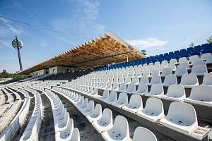 Fotbalový stadion v Hradci Králové v Malšovících