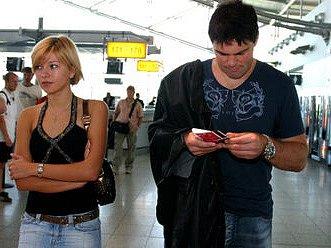 Jaromír Jágr s partnerkou