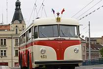 Oslavy výročí 65 let trolejbusové dopravy v Hradci Králové.