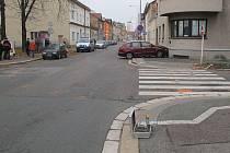 Místo nehody v Habrmanově ulici, kde zemřely dvě malé děti.
