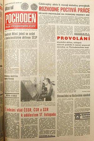 Pochodeň z21. listopadu 1989.
