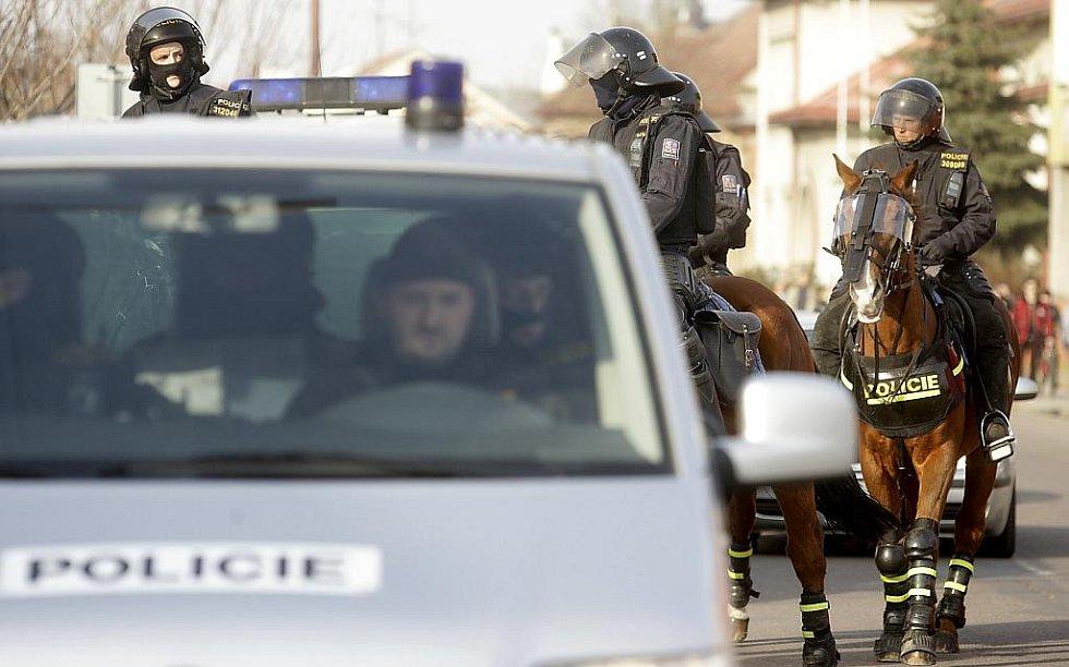 Na bezpečnost v Novém Bydžově dohlíželi i jízdní policisté