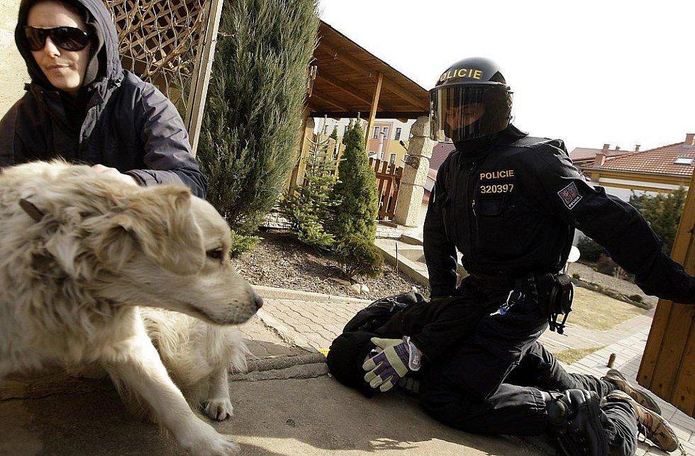 Jeden ze zatčených anarchistů
