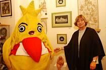 Výstava krajky ve prospěch nadace Pomozte dětem.