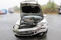 Dopravní nehoda tří osobních automobilů u Krňovic.