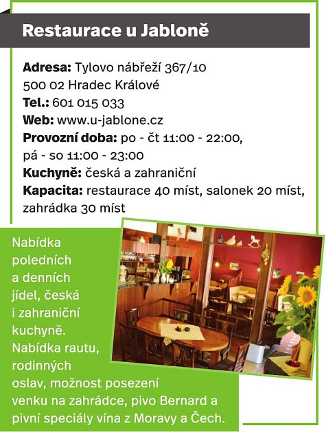 Restaurace uJabloně, Hradec Králové