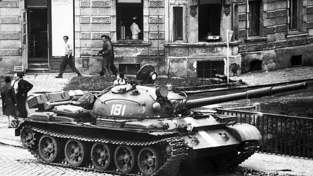 Okupace v roce 1968, ilustrační dobová fotografie