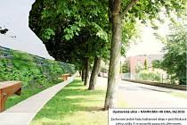 Návrh budoucí podoby Opatovické ulice v Hradci Králové.