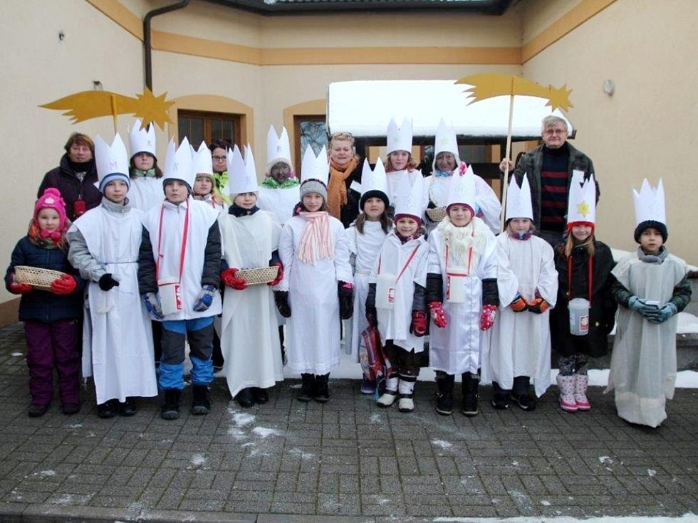 Tříkrálová sbírka v obci Nepolisy.