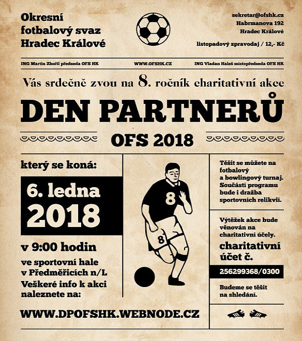 Pozvánka na lednový Den partnerů OFS Hradec Králové.