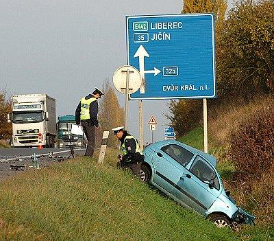Dopravní nehoda u Rozběřic 30. října 2007