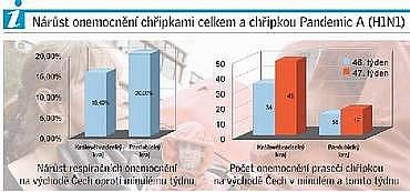 Prasečí chřipka, infografika východočeského Deníku