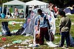Hip Hop Kemp 2010: areál při odjezdu (neděle 22. srpna 2010).
